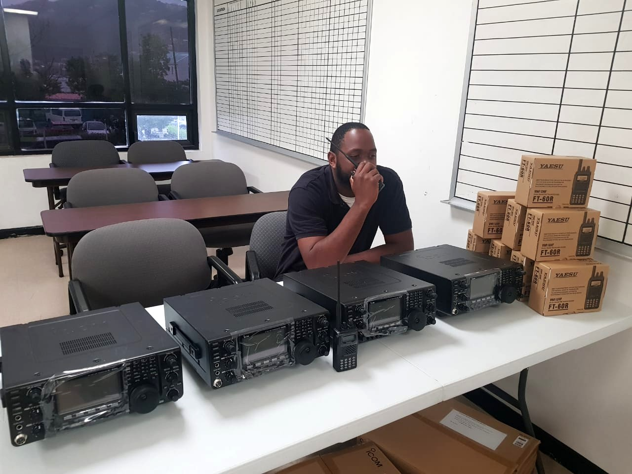 HAM Operators Receive Equipment To Boost Their System