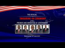 Embedded thumbnail for Swearing In Ceremony of the Premier and Ministers of Government