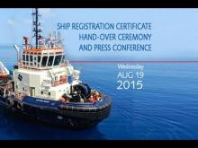 Embedded thumbnail for Shipping Registration Certificate Hand-over and Press Conference