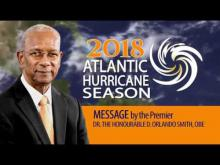 Embedded thumbnail for 2018 Atlantic Hurricane Season Message by Premier Smith