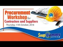 Embedded thumbnail for SnapComms - Season 3 Episode 16 - Interview with Dr. Drexel Glasgow and on the Procurement Workshop for contractors and suppliers....