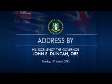 Embedded thumbnail for Address by His Excellency The Governor, John S. Duncan OBE