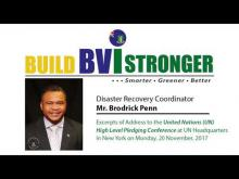 Embedded thumbnail for Excerpts of Address to the UN High Level Pledging Conference by  Disaster Recovery Coordinator