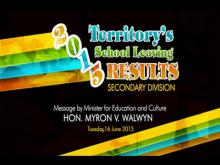 Embedded thumbnail for Message by Minister for Education and Culture - Territory's Secondary School Leaving Results