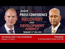 Embedded thumbnail for Joint Press Conference with His Excellency the Governor and Premier Smith