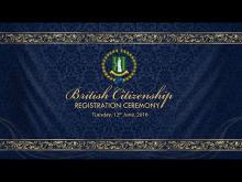 Embedded thumbnail for British Citizenship Registration Ceremony
