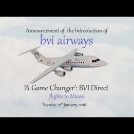Embedded thumbnail for A Game Changer: BVI Direct Flights To Miami