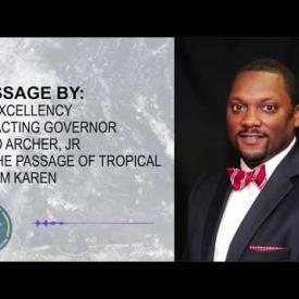 Embedded thumbnail for Message By Acting Governor David Archer, Jr On The Passage Of Tropical Storm Karen