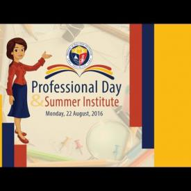 Embedded thumbnail for Professional Day and Summer Institute