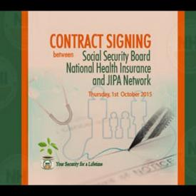Embedded thumbnail for Contract Signing between Social Security Board National Health Insurance and JIPA Network