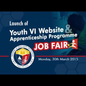 Embedded thumbnail for Launch Of Youth VI Website and Apprenticeship Programme Job Fair