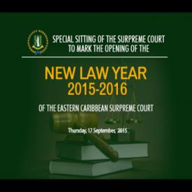 Embedded thumbnail for Special Sitting of the Supreme Court to Mark the Opening of the New Law Year 2015 2016