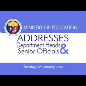 Embedded thumbnail for Ministry of Education Addresses Department Heads and Senior Officials