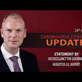 Embedded thumbnail for Statement by His Excellency the Governor Jaspert at Covid-19 Update 24 April 2020