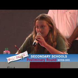 Embedded thumbnail for Spelling Bee, Secondary Schools Preliminary Round - February 18 2015