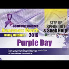 Embedded thumbnail for Domestic Violence Awareness Month - Purple Day