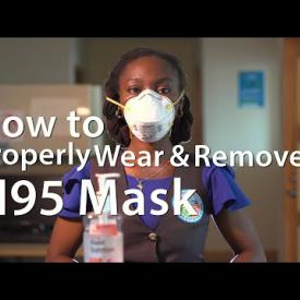 Embedded thumbnail for How to Properly Wear and Remove the N95 mask