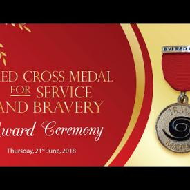 Embedded thumbnail for Red Cross Medal for Service and Bravery Award Ceremony