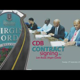 Embedded thumbnail for Caribbean Development Bank (CDB) Contract Signing for Lee Road on Virgin Gorda