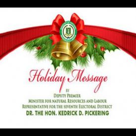 Embedded thumbnail for 2015 Holiday Message by Deputy Premier, Dr. the Honourable Kedrick D. Pickering