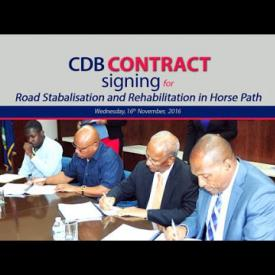 Embedded thumbnail for CDB Contract Signing for Road Stabalisation and Rehabilitation in Horse Path