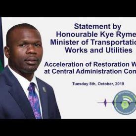 Embedded thumbnail for Statement by Honourable Kye Rymer: Acceleration of Restoration Works at CAC