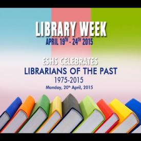 Embedded thumbnail for Library Week - ESHS Celebrates Librarians of the Past 1975 - 2015