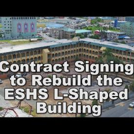 Embedded thumbnail for Contract Signing to Rebuild the ESHS L-Shaped Building