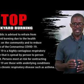 Embedded thumbnail for Covid 19: STOP BACKYARD BURNING
