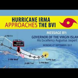 Embedded thumbnail for Message by His Excellency the Governor on Hurricane Irma As It Approaches The British Virgin Islands