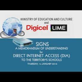 Embedded thumbnail for Memorandum of Understanding - Direct Internet Access (DIA) to the Territory's Schools