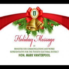 Embedded thumbnail for 2015 Holiday Message by Minister for Communications and Works, Hon. Mark Vanterpool