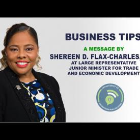 Embedded thumbnail for Business Tips - A Message by Honourable Shereen D. Flax-Charles