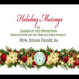 Embedded thumbnail for 2015 Holiday Message by Leader of the Opposition, Hon. Julian Fraser RA