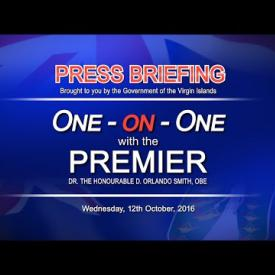Embedded thumbnail for One on One with the Premier Press Briefing - 12 October 2016