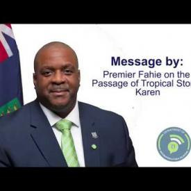 Embedded thumbnail for Message By Premier Fahie On The Passage Of Tropical Storm Karen