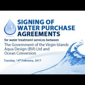 Embedded thumbnail for Signing of Water Purchase Agreements