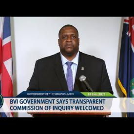 Embedded thumbnail for BVI Government Says Transparent Commission of Inquiry Welcomed