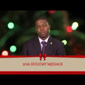 Embedded thumbnail for 2016 Holiday Message - Honourable Melvin Mitch Turnbull