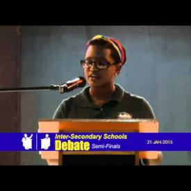 Embedded thumbnail for Inter-Secondary School Semi Finals Debate Competition - January 21 2015