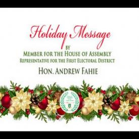 Embedded thumbnail for 2015 Holiday Message by Representative for the First Electoral District, Hon. Andrew Fahie