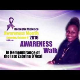 Embedded thumbnail for Awareness Walk in Remembrance of the late Zabrina O'Neal