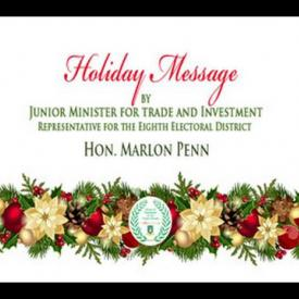 Embedded thumbnail for 2015 Holiday Message by Junior Minister for Trade and Investment, Hon. Marlon Penn